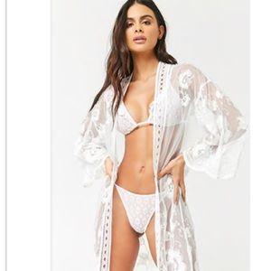 Forever 21 kimono/swim coverup